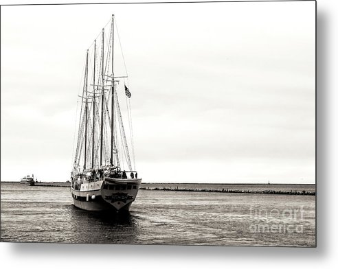 Windy Metal Print featuring the photograph Chicago Tall Ship Windy Sailing Lake Michigan by John Rizzuto
