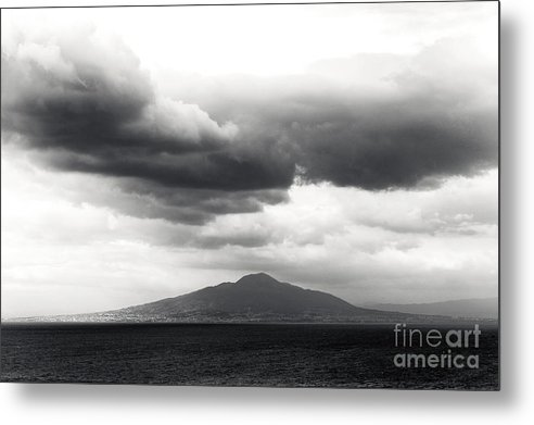 Clouds Over The Bay Of Naples Metal Print featuring the photograph Clouds Over The Bay Of Naples by John Rizzuto