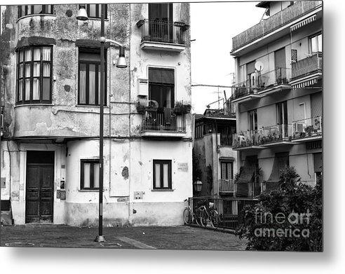 Corner Building In Sorrento Metal Print featuring the photograph Corner Building In Sorrento by John Rizzuto