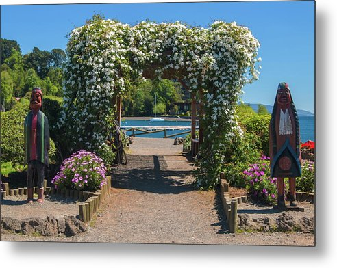 Landscapes Metal Print featuring the photograph Lale Villarrica, Pucon, Chile by Robert McKinstry
