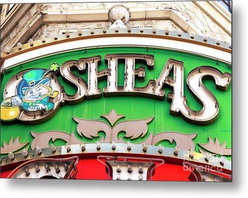 O'sheas Metal Print featuring the photograph O'sheas Las Vegas by John Rizzuto