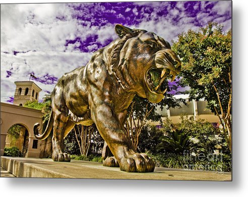 Statue Metal Print featuring the photograph Purple And Gold by Scott Pellegrin