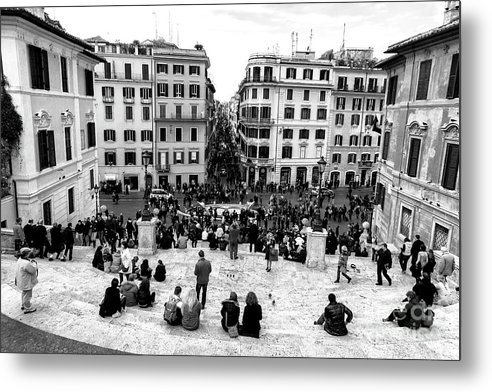Rome View Metal Print featuring the photograph Rome View From The Spanish Steps by John Rizzuto