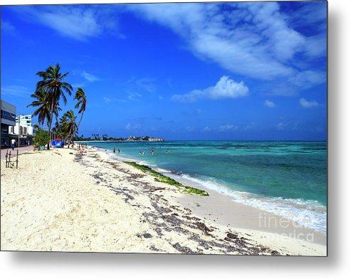 San Andres Island Beach View Metal Print featuring the photograph San Andres Island Beach View by John Rizzuto