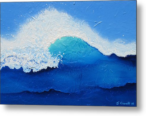 Contemporary Metal Print featuring the painting Spiral Wave by Jaison Cianelli