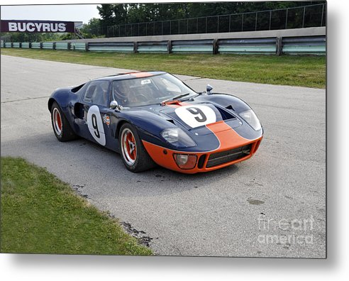 Ford Metal Print featuring the photograph 1966 Ford Gt40 by Tad Gage