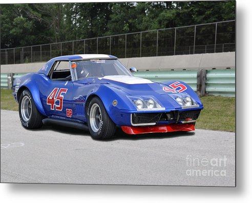 Corvette Metal Print featuring the photograph 1969 Chevrolet Corvette Race Car by Tad Gage