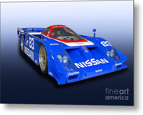 Nissan Metal Print featuring the photograph 1988 Nissan Zx-gtp Race Car by Tad Gage