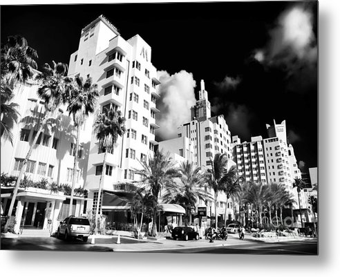 Collins Avenue Metal Print featuring the photograph Collins Avenue by John Rizzuto