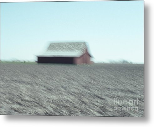 Landscape Metal Print featuring the photograph Illinois Barn by Thomas Carroll