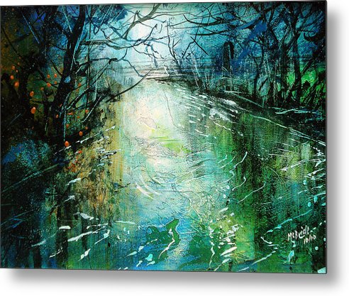 Deep Metal Print featuring the painting Deep River Pool by Neil McBride