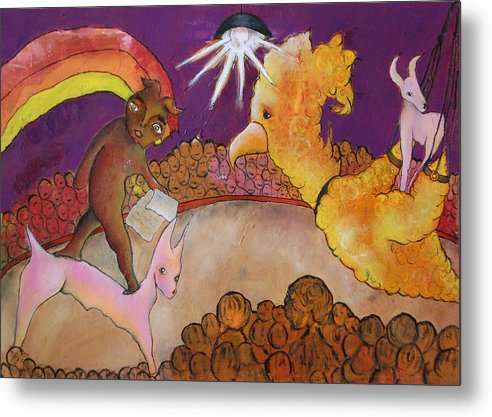 Circus Metal Print featuring the painting Untitled by Abigail Lee Goldberger
