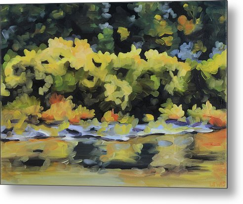Shenandoah River Metal Print featuring the painting Shenandoah River Bank by Anne Lewis