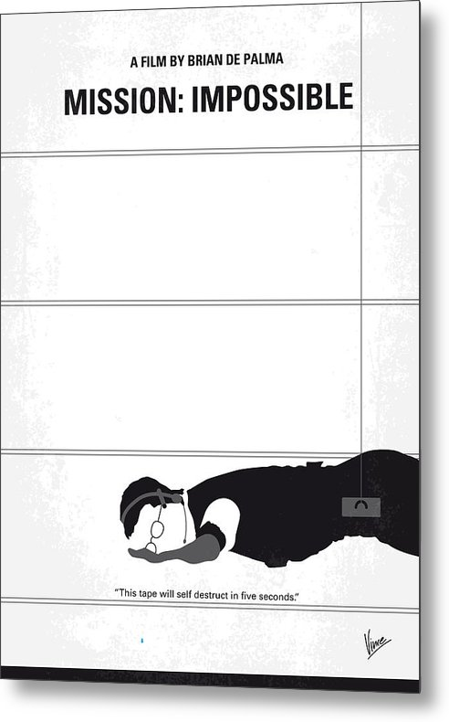 No583 My Mission Impossible minimal movie poster by Chungkong Art