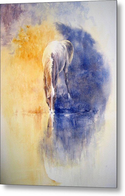 Horses Metal Print featuring the painting Equanimity by Barbara Widmann