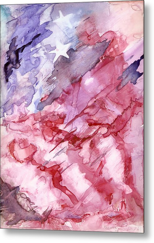 Flag Metal Print featuring the painting Old Glory by Roger Parnow