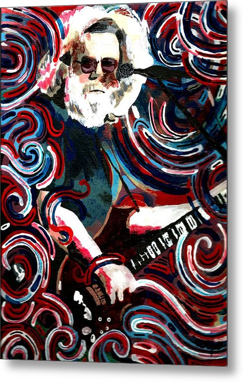 Jerry Garcia Metal Print featuring the painting Jerome Four by Kevin J Cooper Artwork