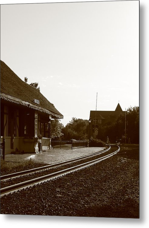 Train Depot Metal Print featuring the photograph The Train Depot by Bill Thomas