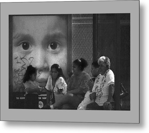 Family Metal Print featuring the photograph All Eyez On Thee by Leon Hollins III