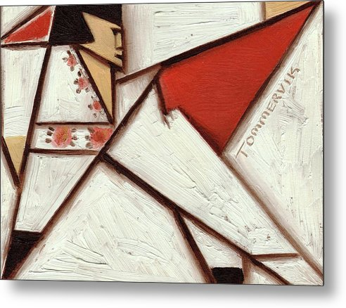 Elvis Metal Print featuring the painting Geometric Elvis Red Cape Art Print by Tommervik