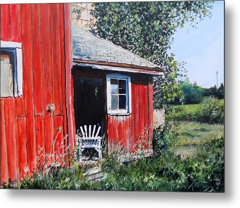 Barn Metal Print featuring the painting The Chair by William Brody