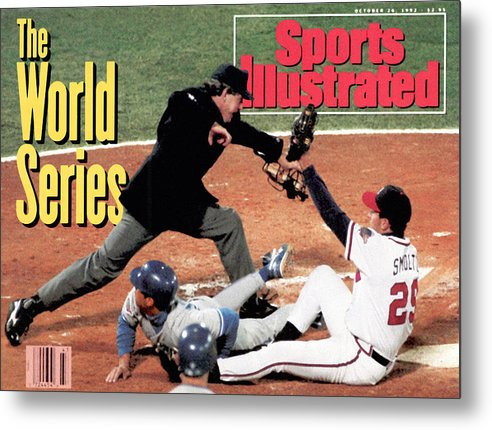 Atlanta Metal Print featuring the photograph Atlanta Braves John Smoltz, 1992 World Series Sports Illustrated Cover by Sports Illustrated