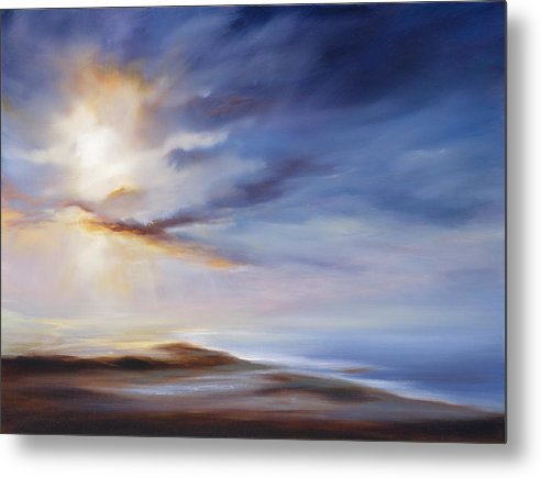 Ocean Metal Print featuring the painting A Case of You by Cheryl Kline