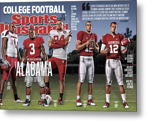 Magazine Cover Metal Print featuring the photograph University Of Alabama Trent Richardson, 2011 College Sports Illustrated Cover by Sports Illustrated