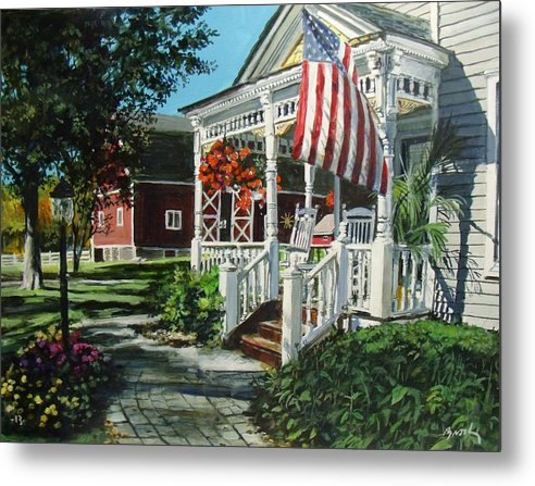 Farm Metal Print featuring the painting An American Dream by William Brody
