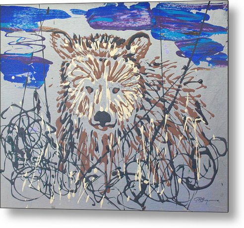 Abstract/impressionist Painting Metal Print featuring the painting The Kodiak by J R Seymour