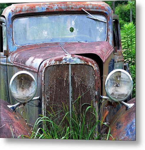 Antique Car Metal Print featuring the photograph Ole Chevy by Leon Hollins III