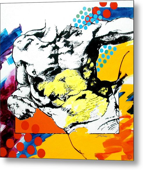 Pop Metal Print featuring the painting Adam by Jean Pierre Rousselet