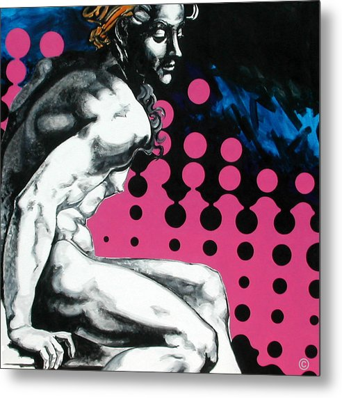 Pop Metal Print featuring the painting Ignudo by Jean Pierre Rousselet