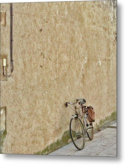 Europe Metal Print featuring the digital art Provencial Bike by Scott Waters