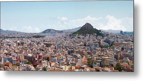 Greek Culture Metal Print featuring the photograph Athens Panorama View From The Acropolis by Ed Freeman