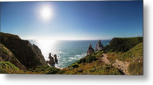 Tranquility Metal Print featuring the photograph Portugal, View Of Praia Da Ursa by Westend61