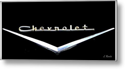 Chevrolet Metal Print featuring the photograph Chevrolet Logo by Leslie Revels