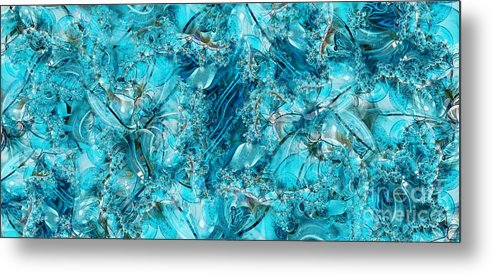 Collage Metal Print featuring the digital art Glass Sea by Ron Bissett
