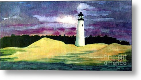 Fine Art Metal Print featuring the painting The Beacon by Patricia Griffin Brett