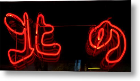 Red Neon Metal Print featuring the photograph Warm Neon by Baato