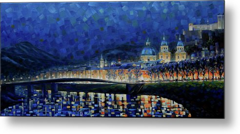 Salzburg Metal Print featuring the painting Austrian Nights by Rob Buntin