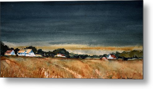 Rural Metal Print featuring the painting Fields of Grain by Charles Rowland