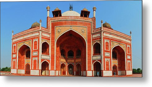 Arch Metal Print featuring the photograph Humayuns Tomb, New Delhi by Mukul Banerjee Photography