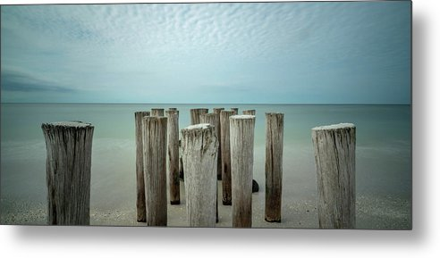 Naples Florida 2021 Metal Print featuring the photograph Naples Pilings 2021 by Joey Waves