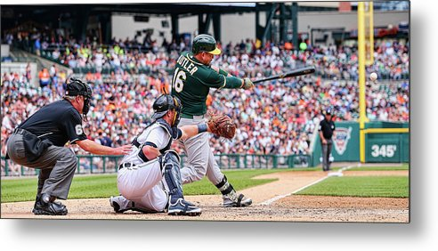 People Metal Print featuring the photograph Billy Burns and Billy Butler by Leon Halip