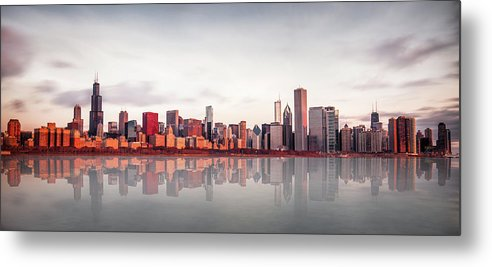 Chicago Metal Print featuring the photograph Sunrise At Chicago by Marcin Kopczynski