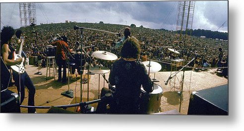 Timeincown Metal Print featuring the photograph Santana Onstage At Woodstock by Bill Eppridge