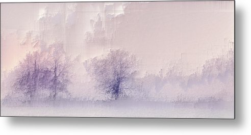 Metal Print featuring the digital art Winter landscape by Jenny Filipetti