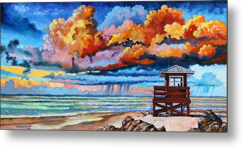 Ocean Metal Print featuring the painting Dreaming of Siesta Key by John Lautermilch