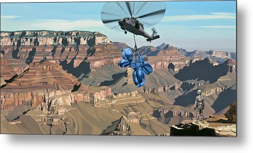 Astronaut Metal Print featuring the painting Grand Canyon by Scott Listfield